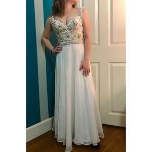 Sherri Hill Ivory Prom Dress